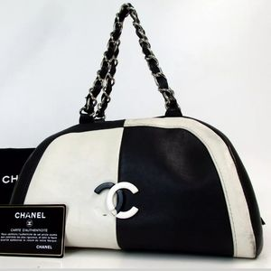CHANEL Bags - AUTH  CHANEL 10662309 BICOLOR CC MARK  HANDBAG